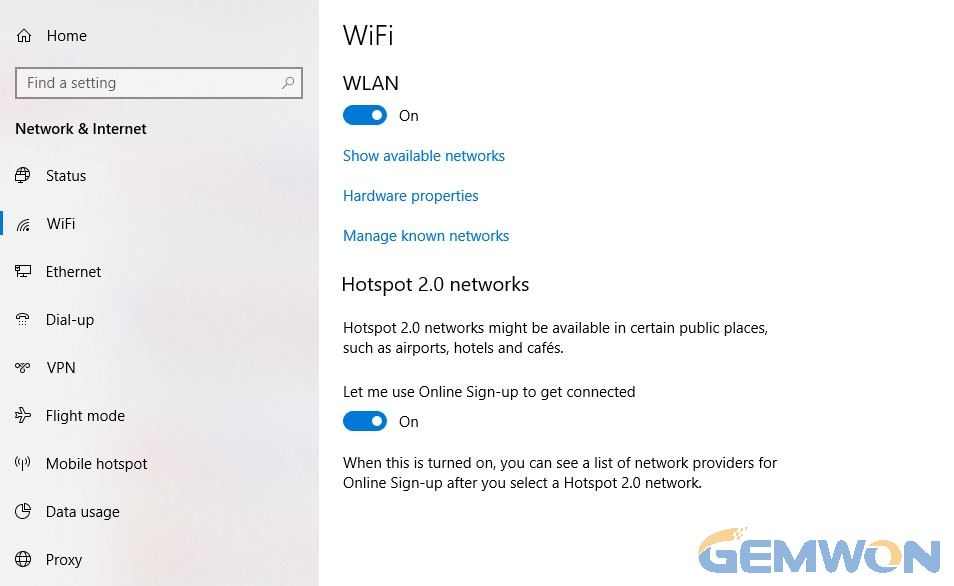 wifi wont turn on windows 10 hp